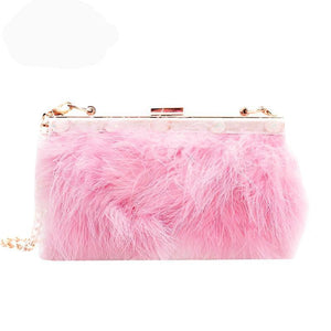Marabou Feather Front Clutch