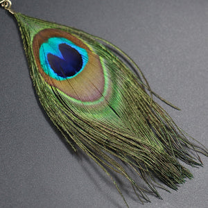 Peacock Feather Pendant Necklace