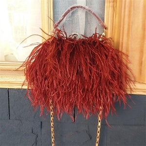 "The ""Audrey"" Ostrich Feather Handbag"