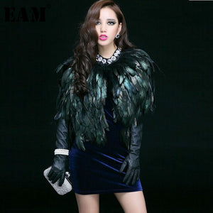 Real Feather Cape Style Shawl