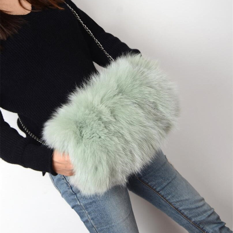 Feather Muff Shoulder Handbag