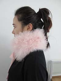 Marabou Feather Tie-Neck /Scarf