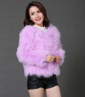 Marabou Feather Pullover Sweater