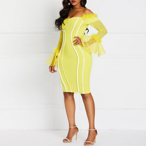 "The ""Lemonade"" Off-the-Shoulder Bodycon Dress"