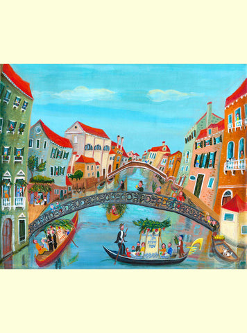 Venetian subjects - Succot in Venice *free shipping on all items* - Michal Meron Art Gallery free shipping on all items - 1