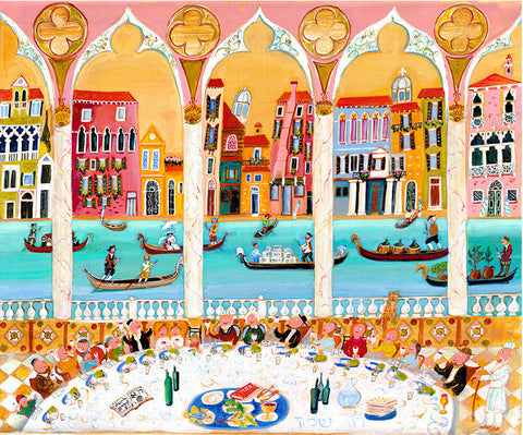 Pessach in Venice *free shipping on all items* - Michal Meron Art Gallery free shipping on all items