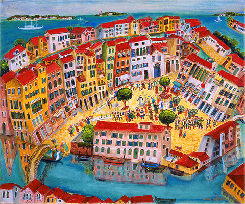 wedding in Venice rectangular *free shipping on all items* - Michal Meron Art Gallery free shipping on all items