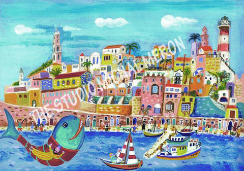 Old Jaffa *free shipping on all items* - Michal Meron Art Gallery free shipping on all items - 2