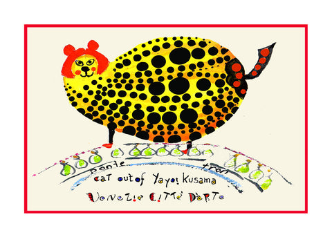 NEW! Cat Out Of Yayoi Kusama / Ponte Tron - Artistic Caz By Michal Meron