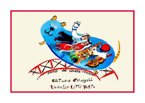 NEW! Cat Out Of Chagall / Ponte de Ghetto - Artistic Caz By Michal Meron