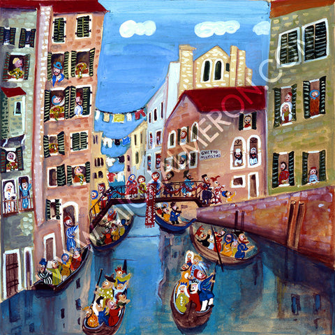 Purim in Venice *free shipping on all items* - Michal Meron Art Gallery free shipping on all items