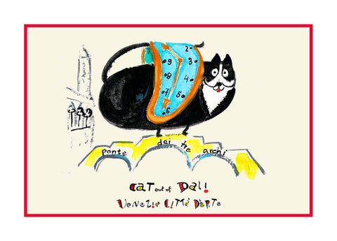 NEW! Cat Out Of Dali / Ponte dei Tre Archi - Artistic Caz By Michal Meron