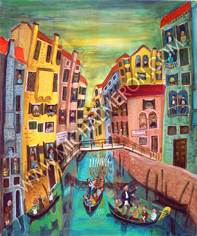 Hanukkah in the ghetto of Venice *free shipping on all items*