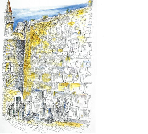 Micrography Jerusalem western wall Paper Print Open Edition - Size: 9in x 13in