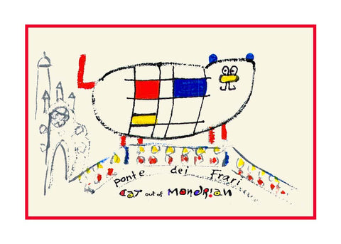 NEW! Cat Out Of Mondrian / Ponte Di Frari - Artistic Caz By Michal Meron