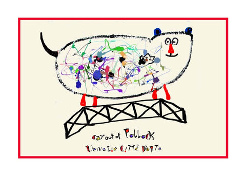 NEW! Cat Out Of Pollock - Artistic Caz By Michal Meron