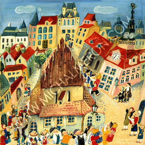 Prague Ghetto | European Synagogues *free shipping on all items* - Michal Meron Art Gallery free shipping on all items
