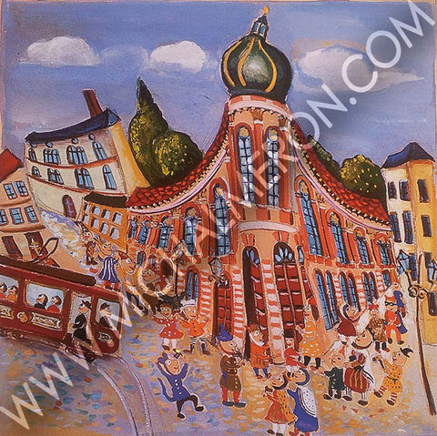 Frankfurt | European Synagogues *free shipping on all items* - Michal Meron Art Gallery free shipping on all items
