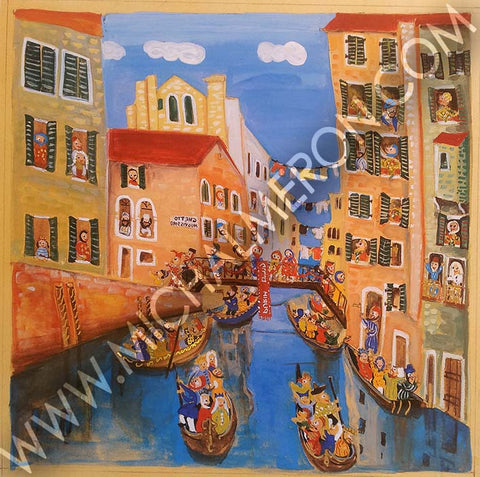 Venice Purim | European Synagogues - Michal Meron Art Gallery free shipping on all items
