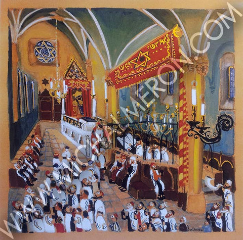 Prague Rosh Hashana | European Synagogues *free shipping on all items* - Michal Meron Art Gallery free shipping on all items