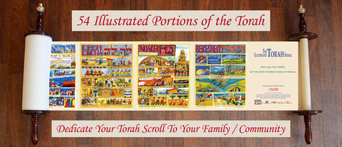*DISPLAY SALE* LARGE TORAH SCROLL HIGH: 40 inch + PLEXIGLAS CASE + 2 FREE MINI TORAH SCROLLS HIGH: 21 inch *shipping included*