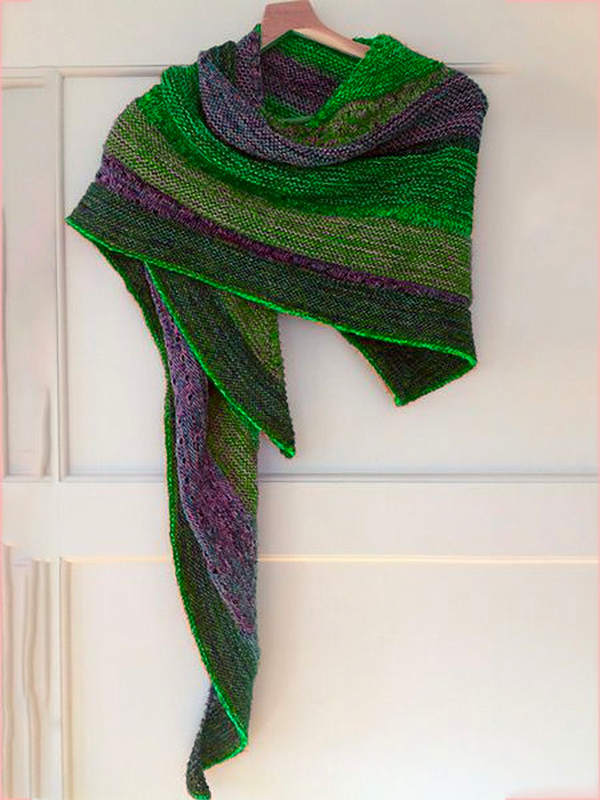 Color Boho Color-Block Scarves & Shawls