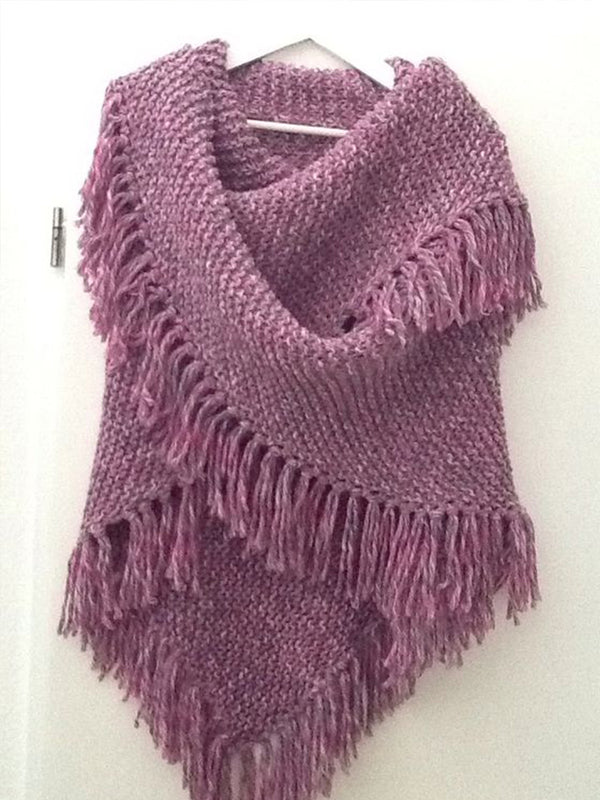 Women's  Casual   Round Neck Solid Scarves & Shawls