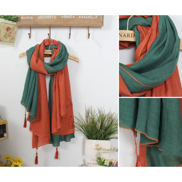 Women Fringed Comfort Linen Scarves