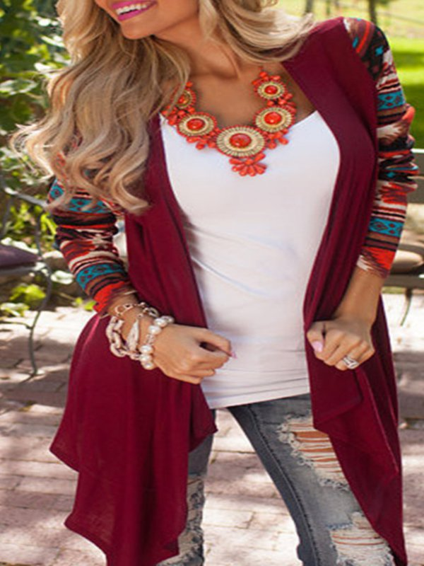 Paneled Boho Knitted Cardigan