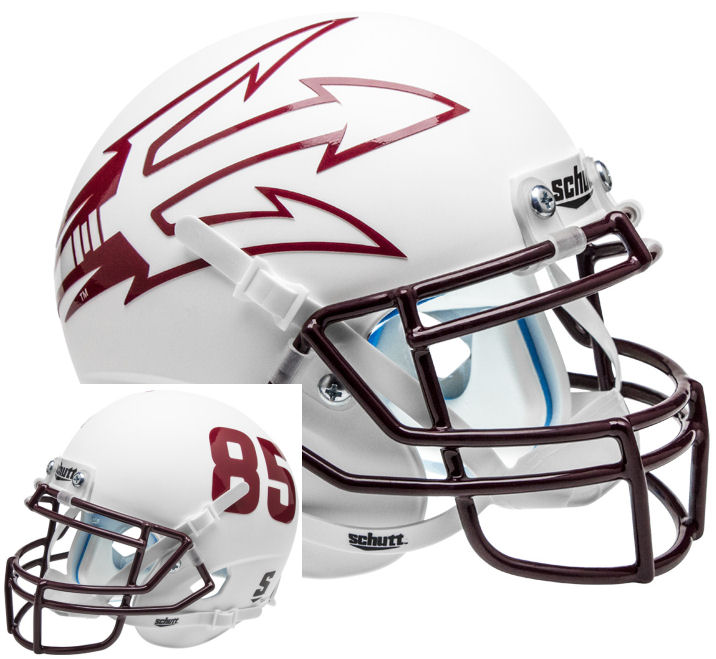 Arizona State Sun Devils White Schutt XP Mini Helmet - 85