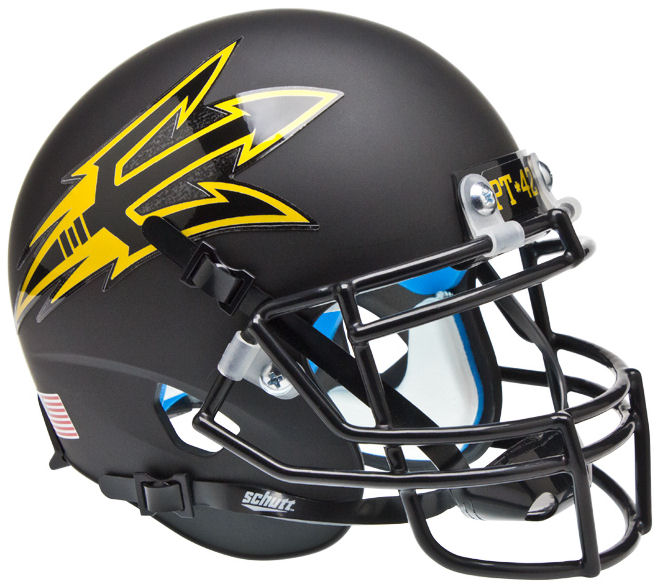 Arizona State Sun Devils Schutt XP Mini Helmet - Matte Black PT 42