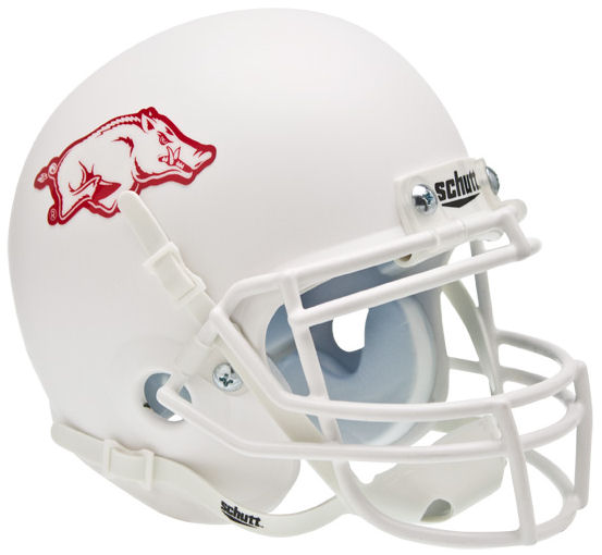 Arkansas Razorbacks Schutt XP Mini Helmet - Matte White
