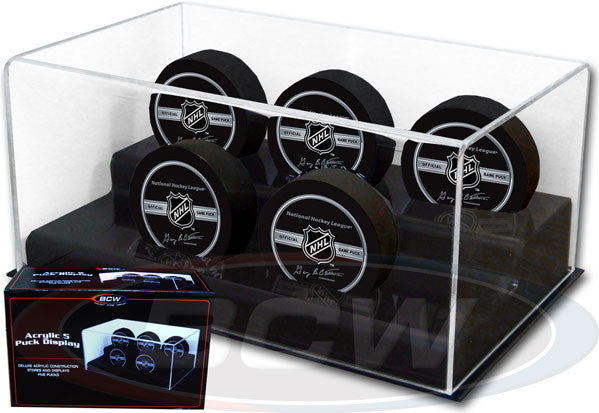 BCW Deluxe Acrylic 5 Hockey Puck Display Case