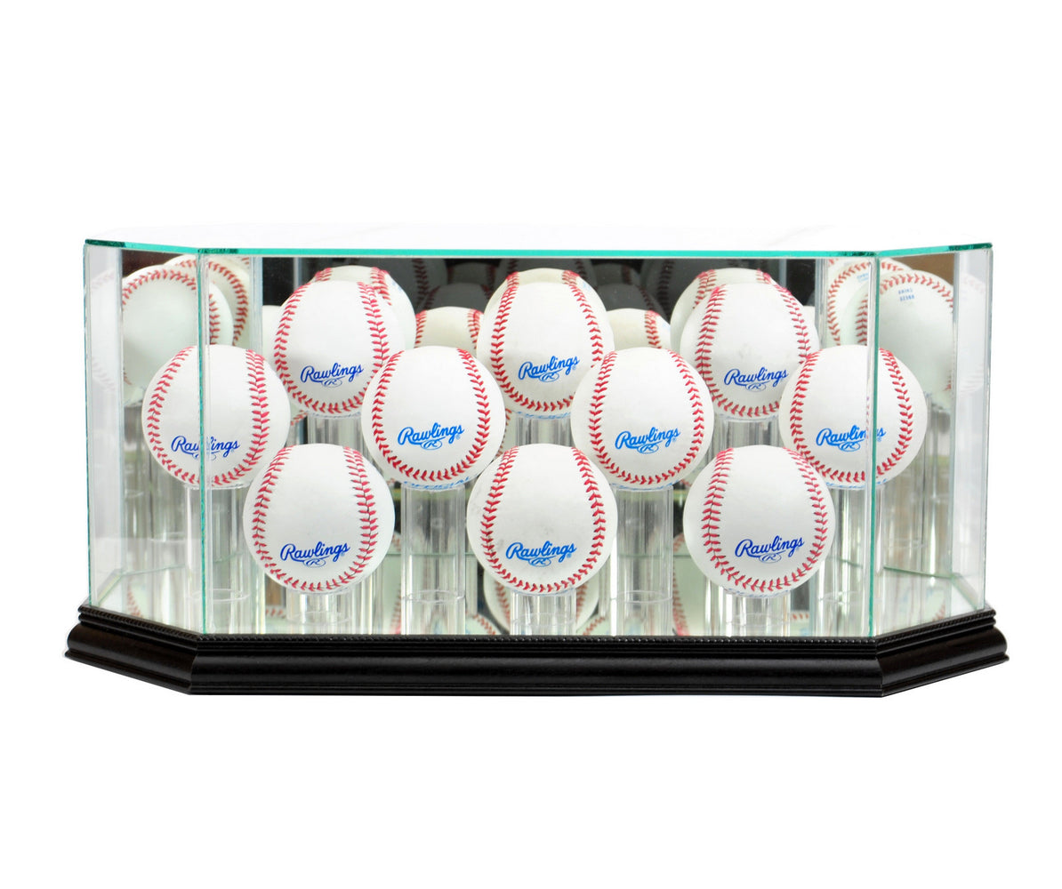 Ten Baseball Display Case with Mirrors