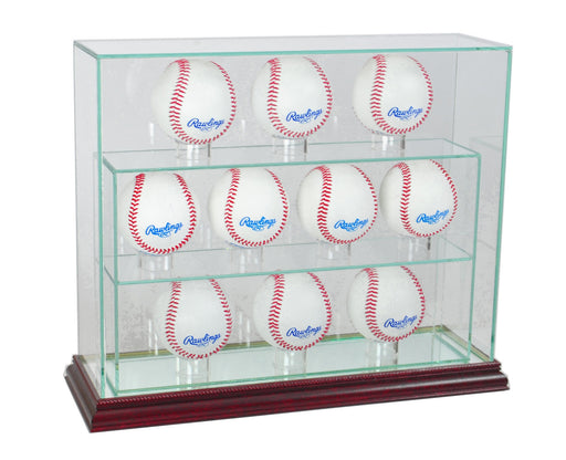 10 Vertical Baseball Display Case