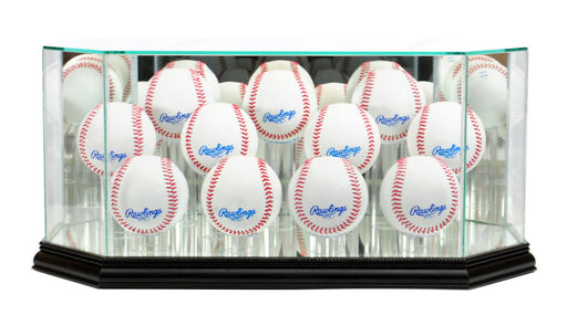 Eleven Baseball Display Case with Mirrors
