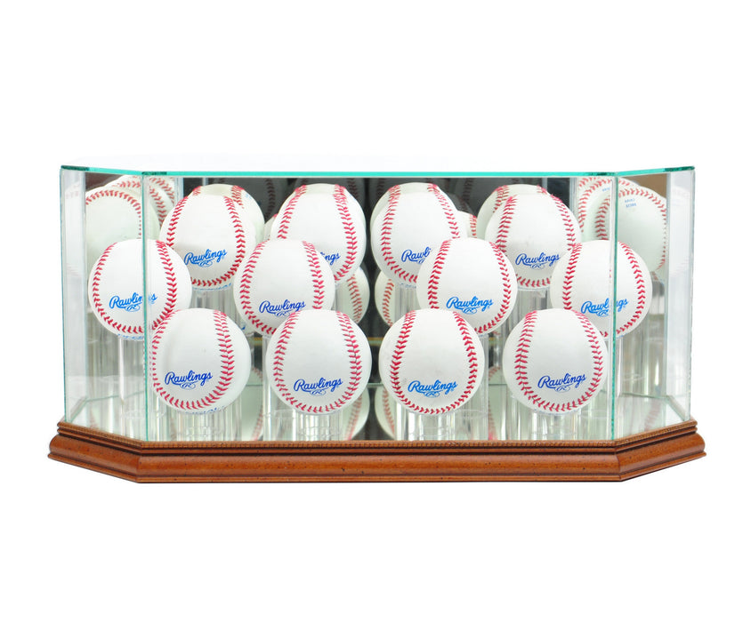 Twelve Baseball Display Case with Mirrors
