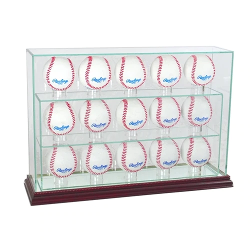 15 Vertical Baseball Display Case
