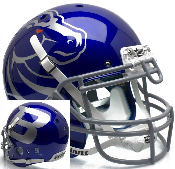 Boise State Broncos Authentic Schutt XP Full Size Helmet - Blue Alt