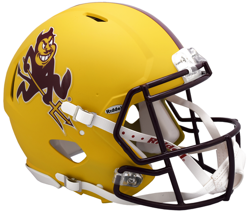 Arizona State Sun Devils Authentic Full Size Speed Helmet - Flat Yellow Sparky