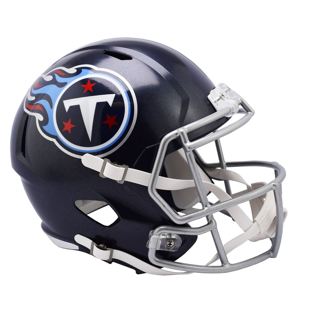 Tennessee Titans Authentic Full Size Speed Helmet - 2018 Satin Navy Metallic