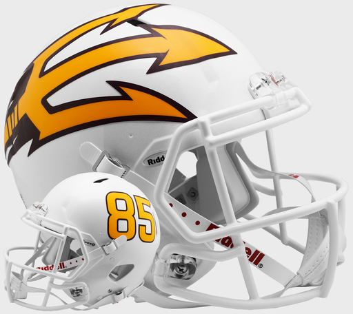 Arizona State Sun Devils Authentic Full Size Speed Helmet - White Metallic