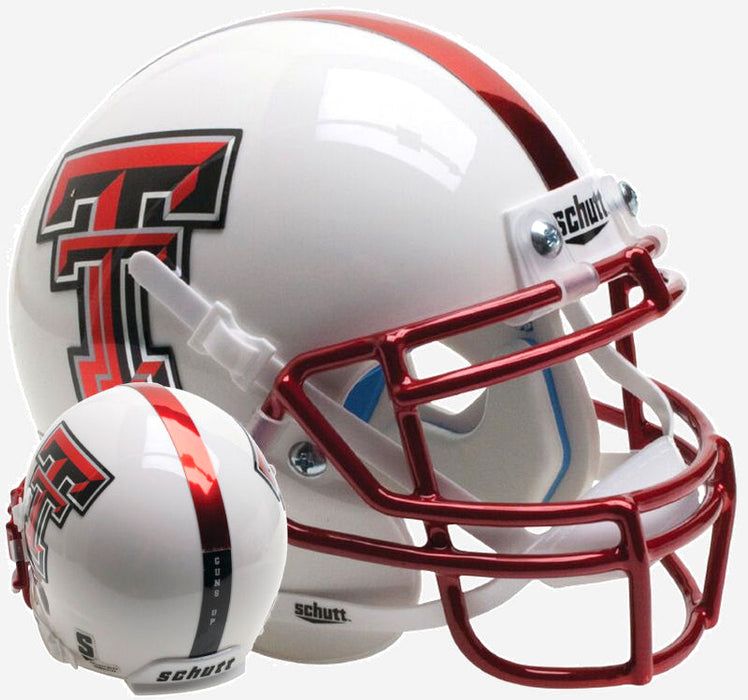 Texas Tech Red Raiders Schutt XP Mini Helmet -  Guns Up Red Chrome Mask