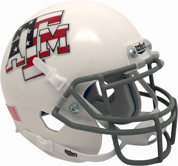 Texas A&M Aggies Schutt XP Mini Helmet - Flag Decal