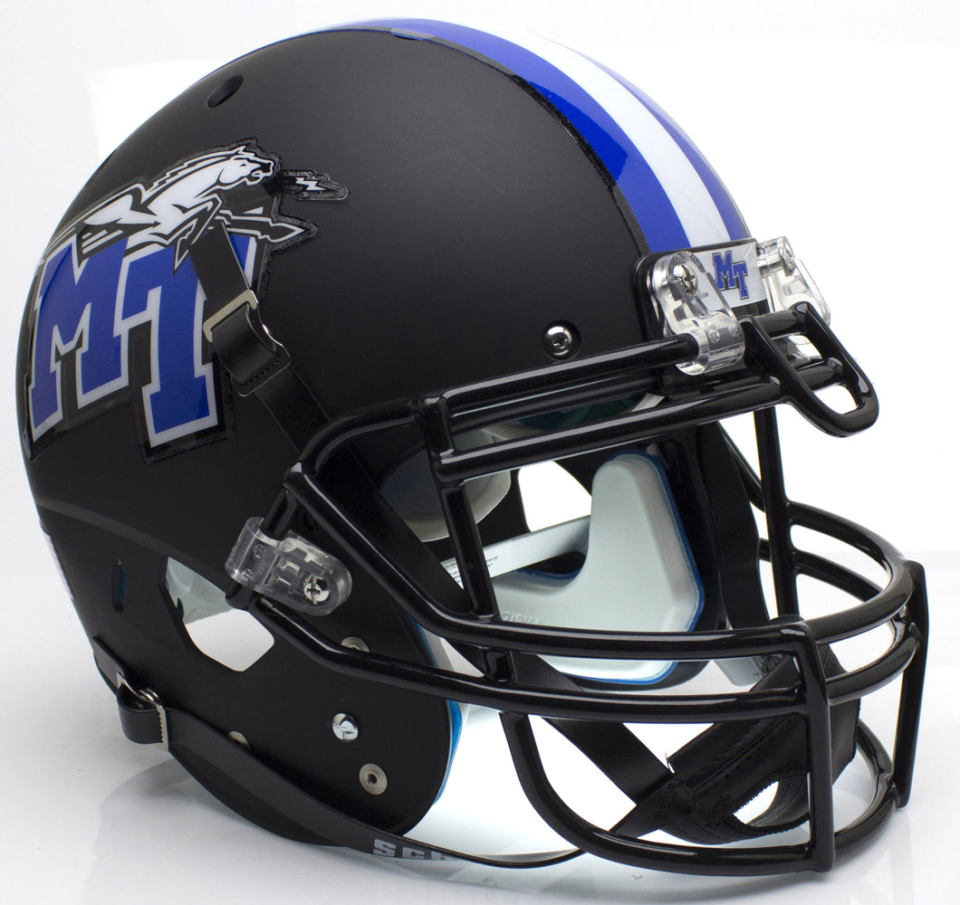 Middle Tennessee State Blue Raiders Authentic Schutt XP Full Size Helmet - Matte Black
