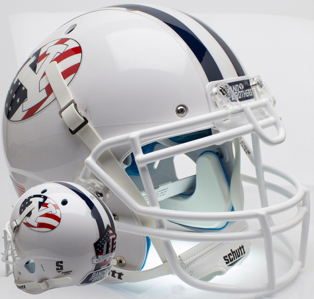 BYU Cougars Authentic Schutt XP Full Size Helmet - Never Forget