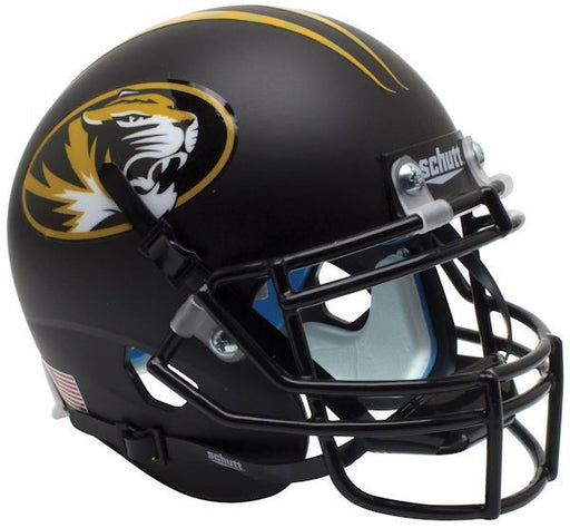 Missouri Tigers Authentic Schutt XP Full Size Helmet - Matte Black Alt