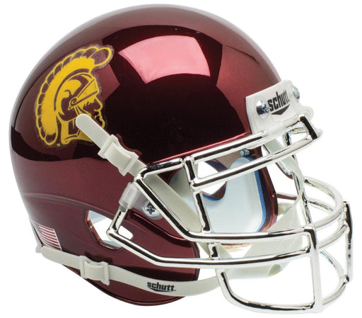 USC Trojans Mini Schutt XP Helmet - Chrome