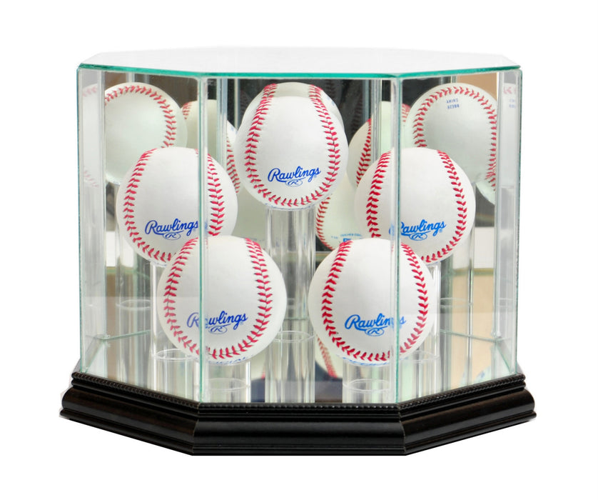 Five Baseball Display Case with Mirrors