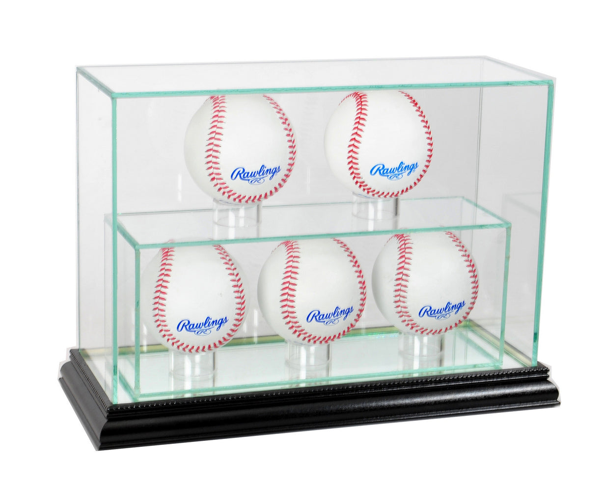 5 Vertical Baseball Display Case